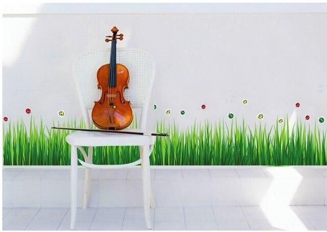 Frische Gras Wand Grenze Aufkleber Wasserdicht Grüne Pflanzen Vinyl  Aufkleber Tapete Familie Schlafzimmer Bad Kindergarten Fliesen