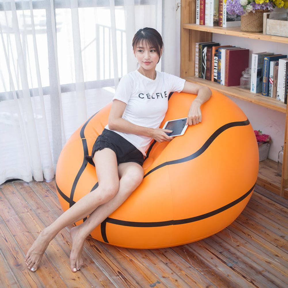 Outdoor Inflatable Basketball Chair Soccer Ball Air Sofa PVC Lounger For Adult Kids Outdoor Camp Lounge Armchair