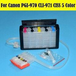 5 kolor PGI970 PGI971 systemu Ciss dla Canon PIXMA MG5790 MG5795 drukarka CISS z chipem ARC