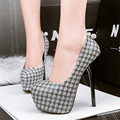 2017 New Women Sexy High Platform Shallow Party Shoes Fashion Small Crystal Ball Round Toe High Heels Women's Shoes Black Khaki