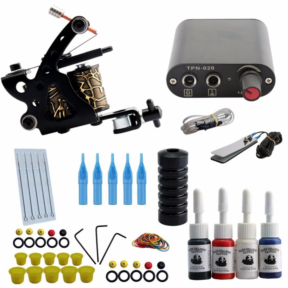 High Quality Machine 5 Needles Power Supply Gun Set Exquisite Workmanship Complete Tattoo Kit Equipment With