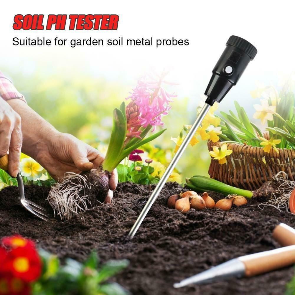 Измеритель влажности PH тестер для сада почвы металлический зонд гигрометр закрытый