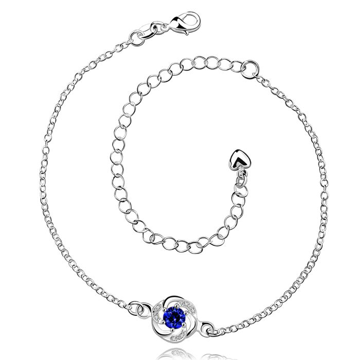 In Workmanship Delicious Anklet Silver Plated Anklet Silver Fashion Jewelry Anklet 20+10cm Chain For Modern Women Jewelry Free Shipping Lkjg La035-d Exquisite