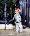 5 jogos/lote bebê outono conjunto Casual / terno ( casaco + t-shirt + calças ) roupas dr0011-7