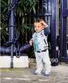 Free shipping 5 sets/lot baby  boy Casual spring autumn set/suit (coat+t-shirt+pants) kids clothing dr0011-7