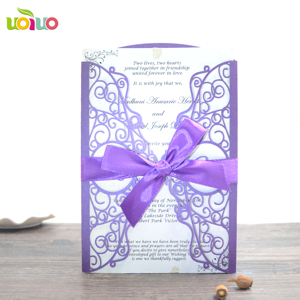 Good Quality Wedding Cards Luxury Personalized Laser Cut Invitation Card With Free Name Logo In Invitations From Home Garden On