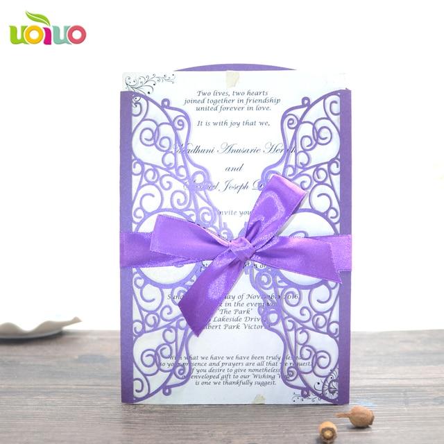 good quality wedding cards luxury personalized laser cut wedding
