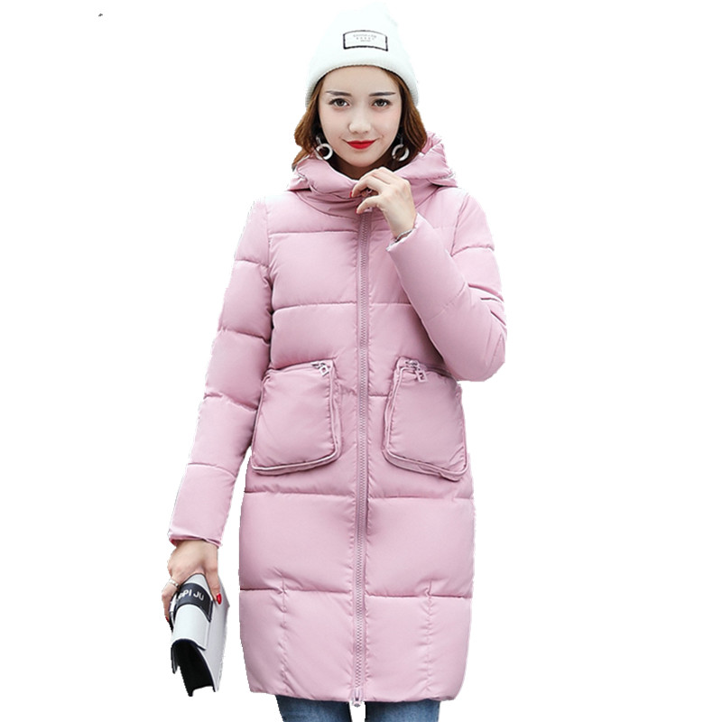 1 PC Plus Size Winter Jacket Women Winter Coat Hooded Parka Jaqueta Feminina Chaquetas Mujer Casacos De Inverno Feminino CM1290