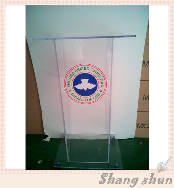 Experienced and acceptable acrylic lectern/podium clear acrylic lectern for meeting transparent lectern pulpit