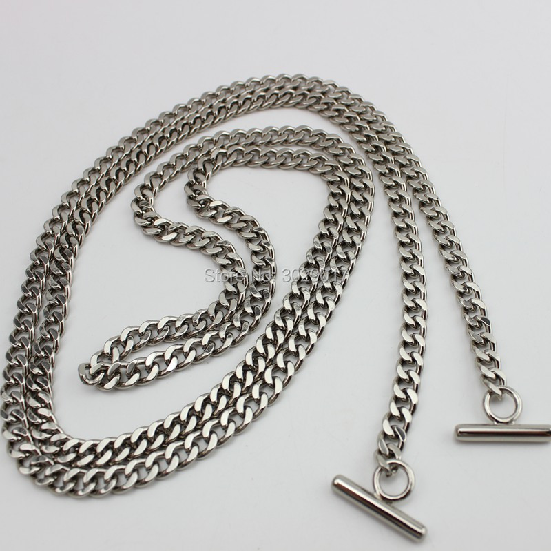 8pcs 7mm Width 120cm 130cm Hight Quality Plating Cover Wholesale DIY Chains Bags Purses Strap Replacement DIY Handle Accessory