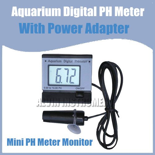 ФОТО Free Shipping Mini PH Meter Monitor (Aquarium) With power adapter transformer