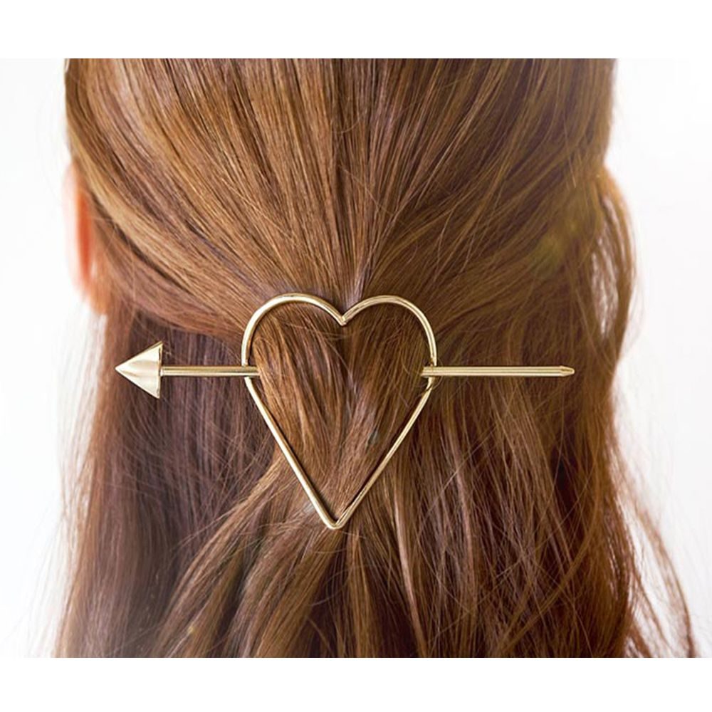 High Quality Simple Hair Stick Clips Arrow Fork Love Heart Bob Hairpin Combs For Women Hair Accessories Wedding Gift