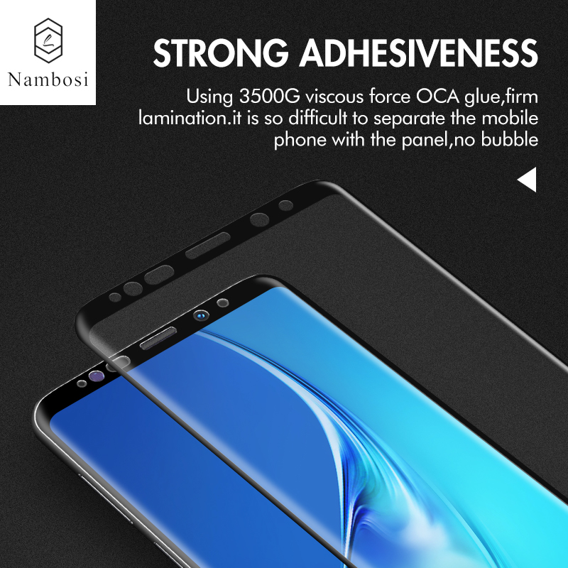 Nambosi 3D Tempered Glass For Samsung Galaxy Note 10 10 Pro S8 S9 S10 Note 8 9 Screen Protector For Samsung S8 Plus S9 S10 Plus Protective Glass For Samsung Note 9 S10 Note 10 Full Cover