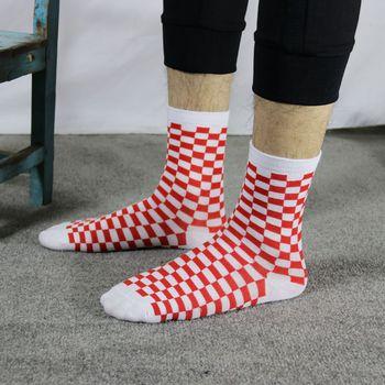 Korea Funky Harajuku Trend Women Checkerboard Socks Geometric Checkered Socks Men Hip Hop Cotton Unisex Streetwear Novelty Socks 8