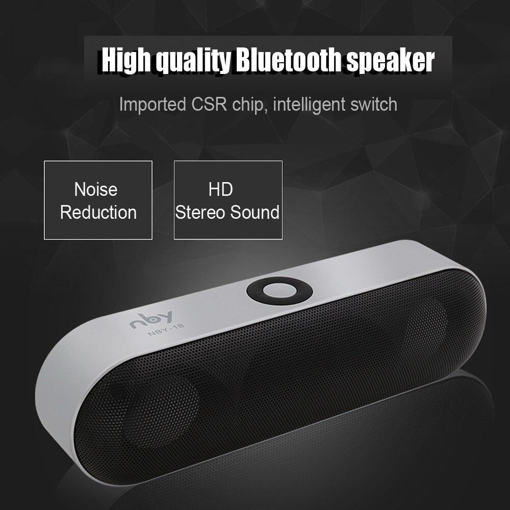 BDF Mini Bluetooth Lautsprecher NBY-18 Sound System 3D Stereo Musik Surround Subwoofer TF AUX USB MIC Tragbaren, Drahtlosen Lautsprecher