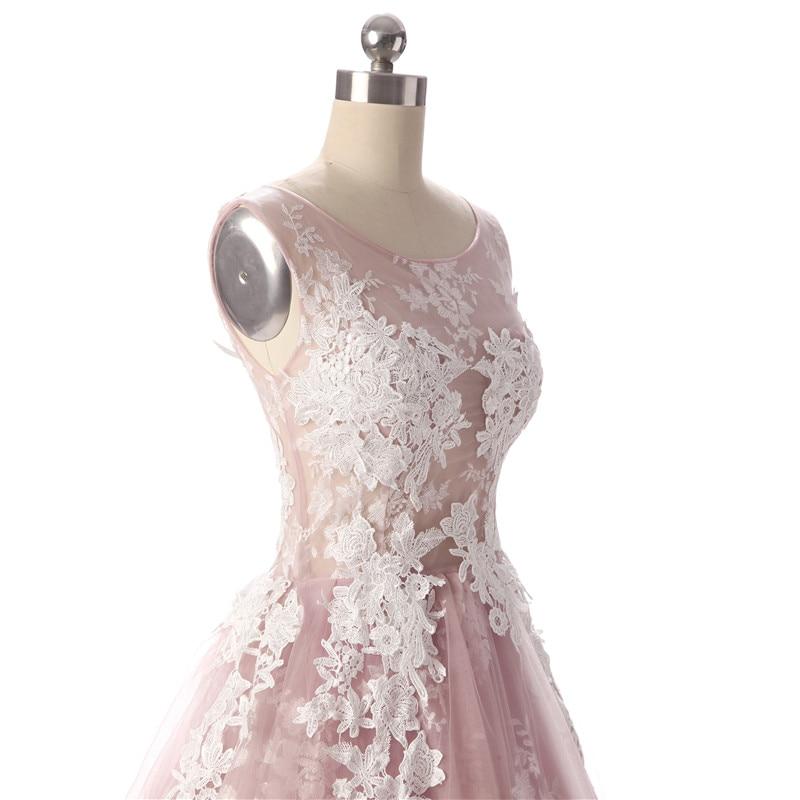 Aswomoye Elegancka krótka sukienka wieczorowa 2018 Nowa elegancka - Suknie specjalne okazje - Zdjęcie 6