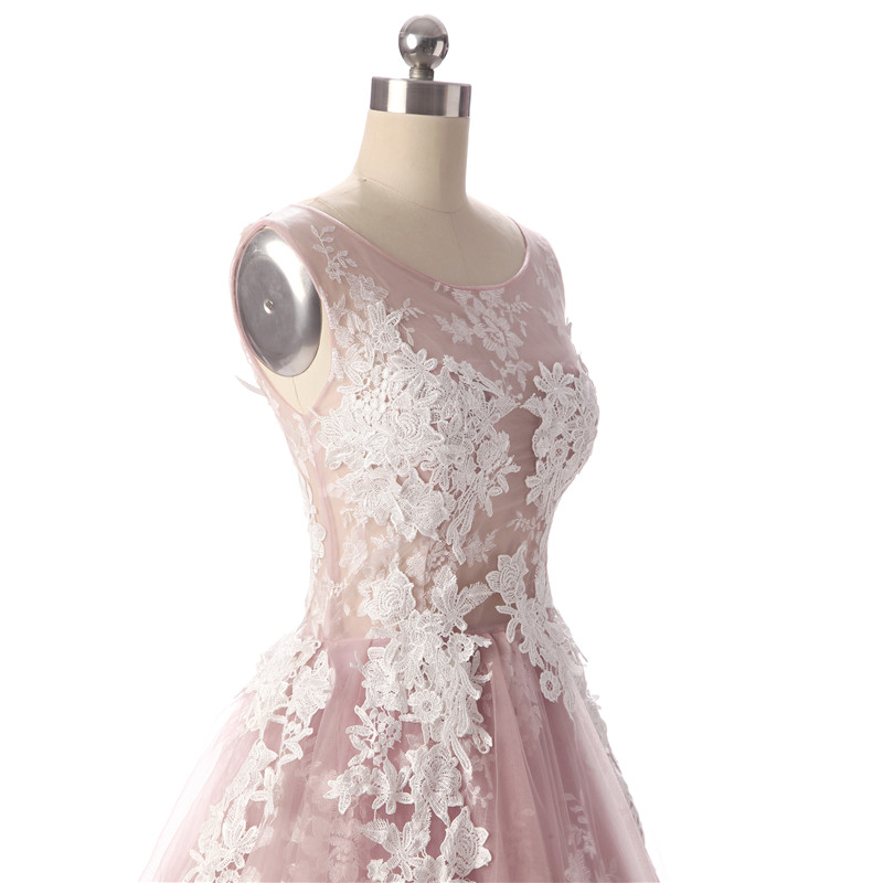 Aswomoye Κομψό Βραδινό Βραδινό Ροζ 2018 Νέο - Ειδικές φορέματα περίπτωσης - Φωτογραφία 6