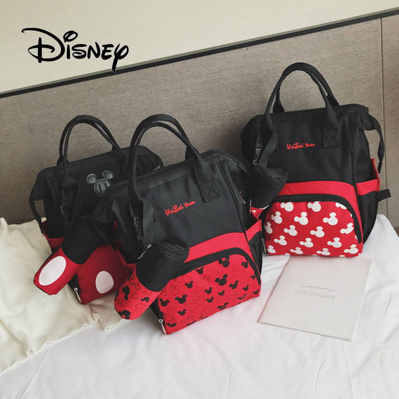 Fast Deliver Disney Mickey Mouse Women Backpack Cute Cartoon Minnie Large Capacity Girl Bag Fashion Travel Mummy Package Birthday Gifts Punctual Timing Dolls & Stuffed Toys