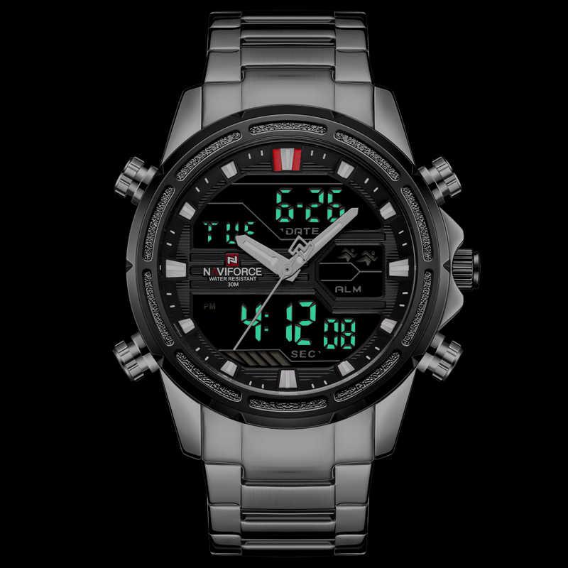 NAVIFORCE Лидирующий бренд Для мужчин Военные Спортивные часы Для мужчин s светодиодный аналоговые цифровые часы мужской армия нержавеющей кварцевые наручные часы Masculino