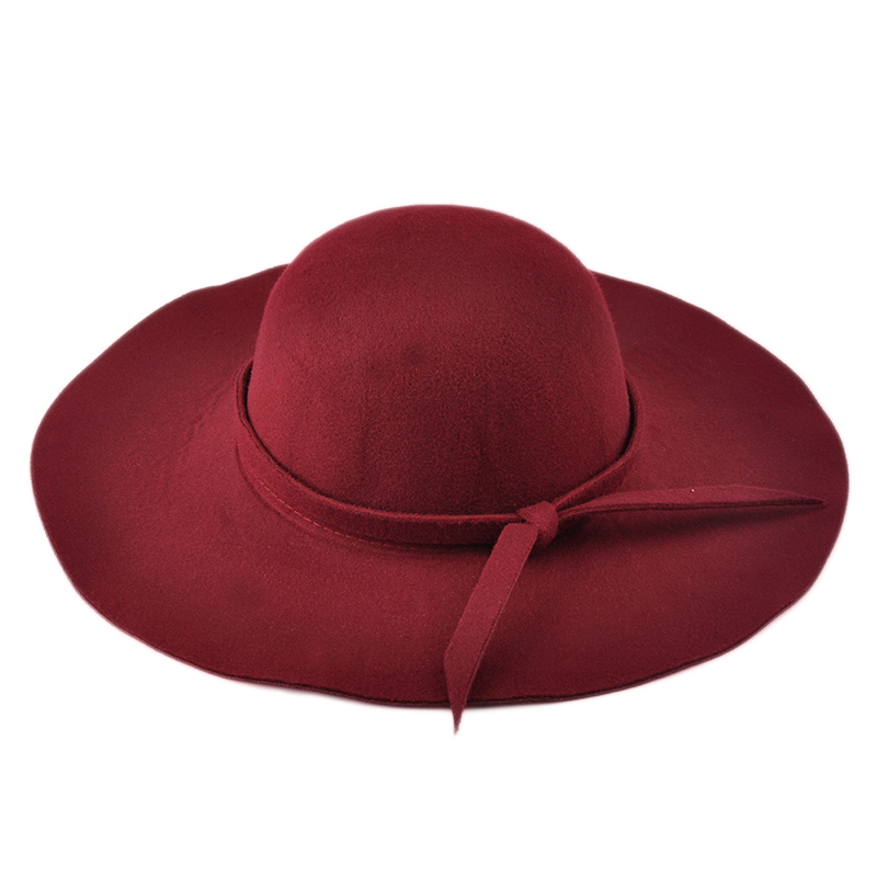 2018 Two Stylish Vintage Fashion Solid Felt Women Woolen Fedora Bowlers Hat Cap for Ladies Girls Multi-Color