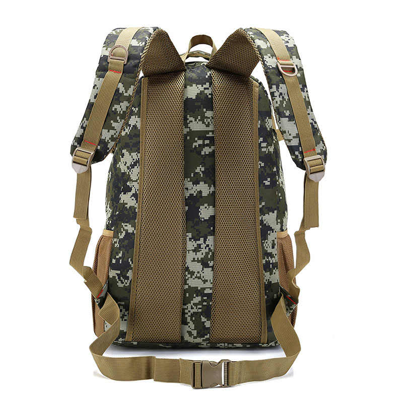 Hot 50L Molle Camo Ransel Taktis Militer Tentara Mochila Tahan Air Hiking Ransel Berburu Wisata Ransel Tas Olahraga Outdoor