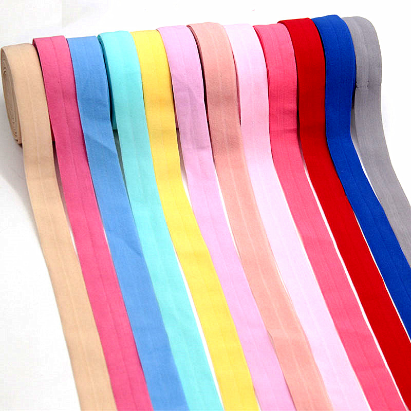5meter 20mm Fold Over Rubber Band Ribbon Elastic Band For Underwear Pants Bra Clothes Sewing Lace Fabric Garment Accessory
