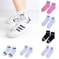 Harajuku/милые Носки с рисунком, счастливые короткие носки, носки для скейтборда