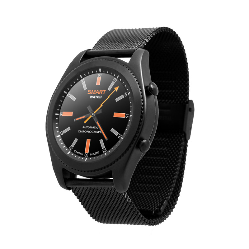 S9 Smart Watch Wrist Bluetooth 4.0 1.2inch Capacitive touch Fashion NFC Sport Pedometer Heart Rate Handfree For iOS Android gt08 1 54 mtk6260a nfc bluetooth watch hd tft smart wrist strap