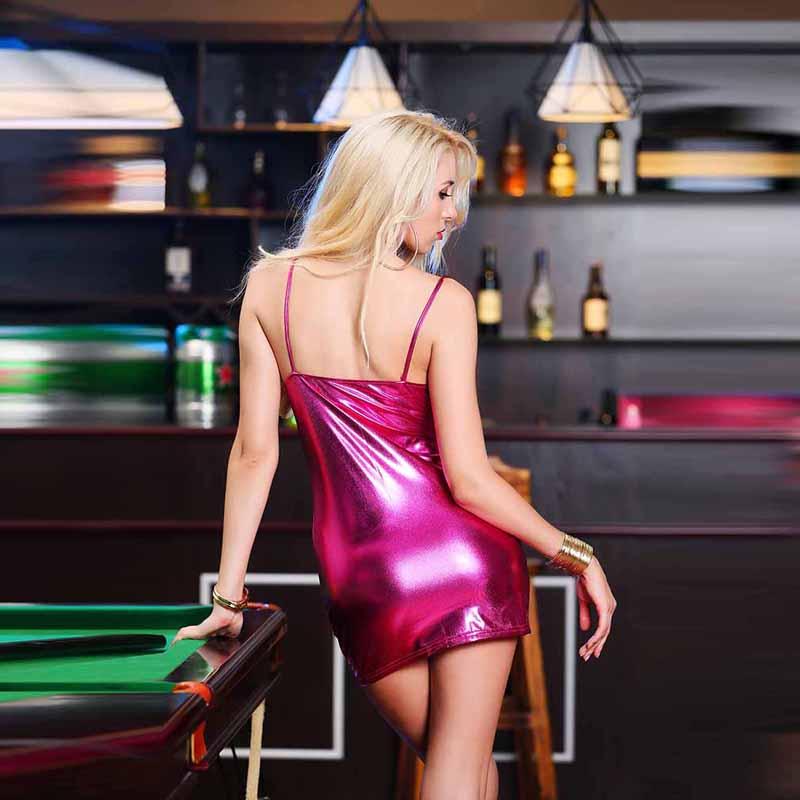 HTB1YKAQaynrK1Rjy1Xcq6yeDVXa2 4XL Ladies Sexy Club Party Sheath Dress Sleeveless Spaghetti Strap Low-cut Dress Women's Clothing Front Zipper Mini Vestidos