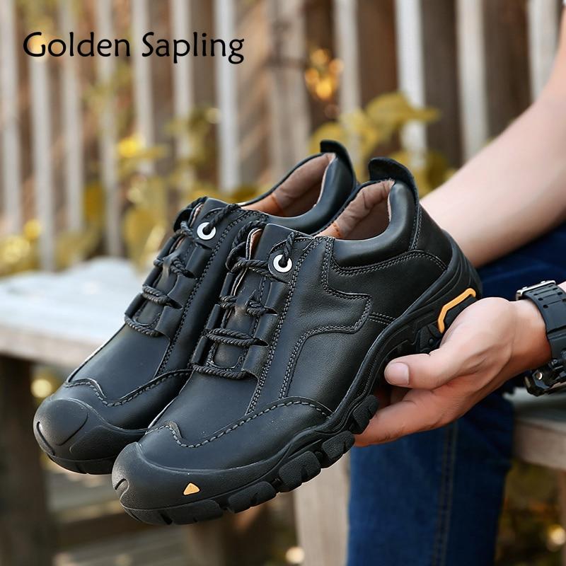 Golden Sapling Outdoor Shoes Climbing Men's Sneakers Mountain Waterproof Male Hiking Shoes Sport Tactical Trekking Sneakers Men цена