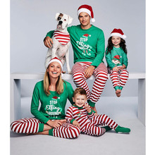 Family Christmas Pajamas Set Striped Pyjamas Look Matching Clothes E0111
