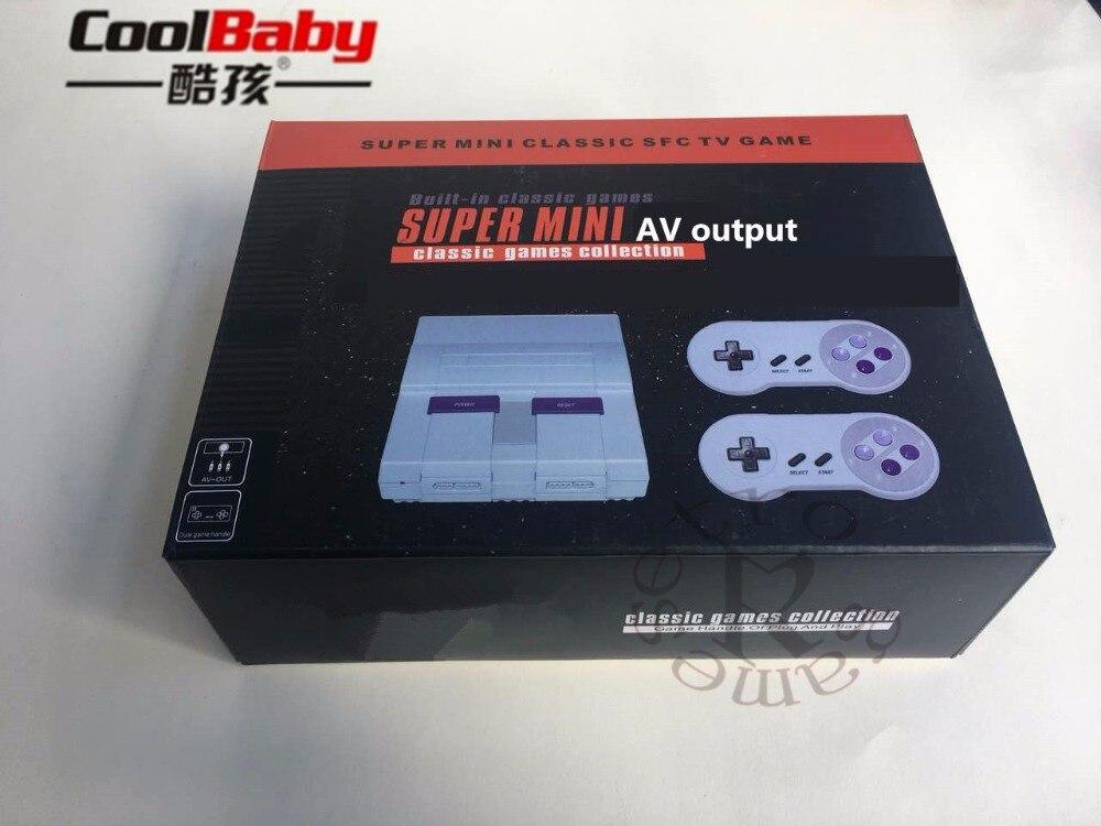 20 pcs/lot 16 bits Mini TV Console de jeu AV out rétro Console de jeu vidéo intégré 94 famille classique jeux lecteur de jeu portable