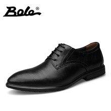 Боле ручной работы Мокасины мужские классические Бизнес Повседневная Натуральная кожа Обувь мужчин Кружева до Высота Увеличение 3 см Модельные туфли