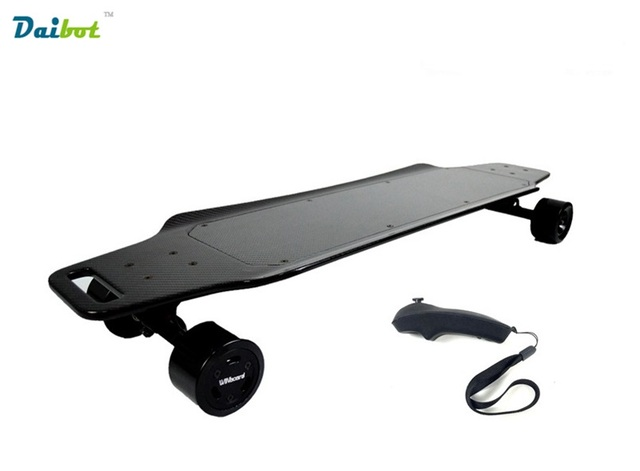 Winboard Gt M6 Pure Carbon Fiber Electric Skateboard Scooter Longboard Waterproof Dual Hub Motor With Remote Controller