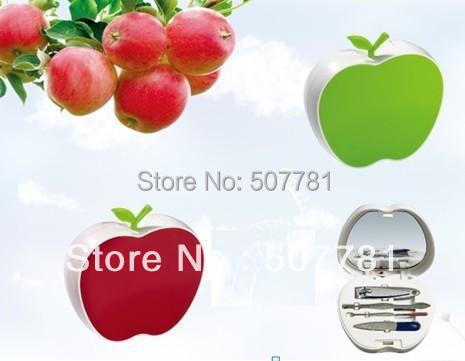 Customized Beauty Series Gifts With 4 Pcs Sets ,Nail Tools,Nail Clipper Item BP163 Fruit Apple