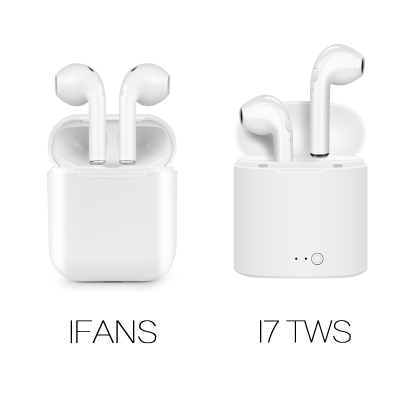 New IFANS Bluetooth Mini Double ear Earbuds Earphone i7 TWS Wireless Air Headsets pods with mic for IPhone 8 7 Plus Android