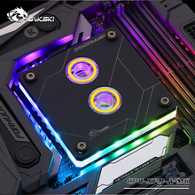 Bykski CPU Water Block use for INTEL LGA1150 1151 1155 1156 2011 2066 X99 I7 RGB Light Support 5V 3PIN GND Header to Motherboard for xps 8700 system motherboard for dz87m01 kwvt8 0kwvt8 lga1150 chipset z87