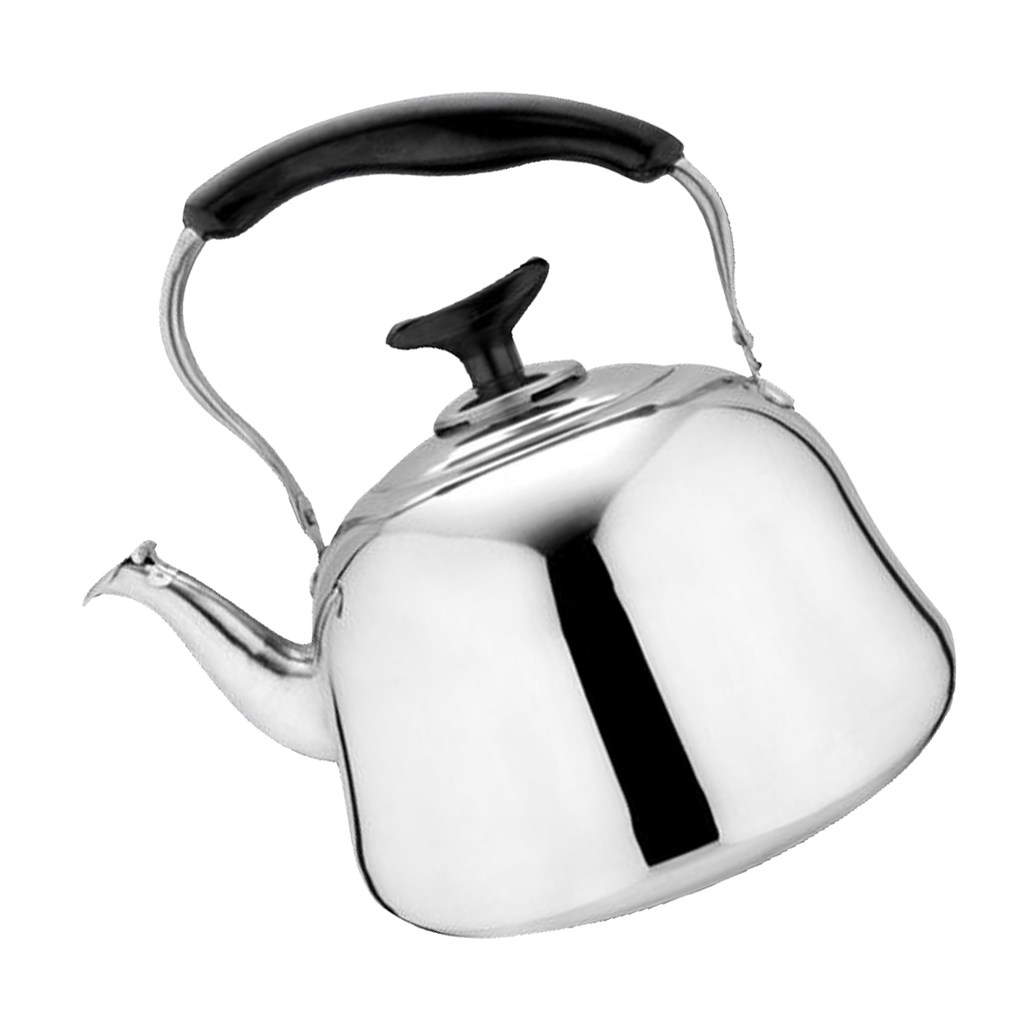 Stainless Steel Whistling Kettle Gas & Electric Hobs Fast Boil Teapot 1L 2L 3L