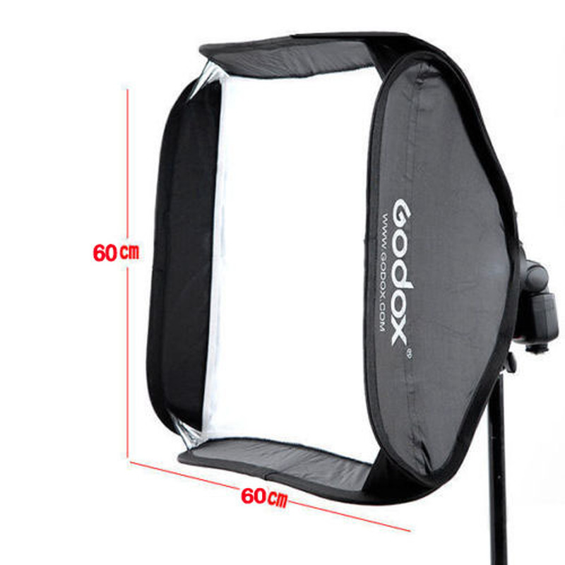 Godox Professional 60 x 60cm Adjustable Softbox + S-Type Flash Speedlite Bracket Bowens Mount Holder for Studio Photography hight quality xml l2 10000 lumens led flashlight bright scuba silver diving light flashlight torch 4x xml l2 100m diver