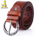 [MILUOTA] 2015 100% Genuine leather vintage belts for women fashion metal Pin buckle women belt brand cintos femininos LD4757