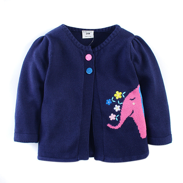 Monkids Girls Sweater Kids Cardigan Long-Sleeved Baby Girls Clothes Children Sweaters Cottons Clothing Sweater Girls Kids