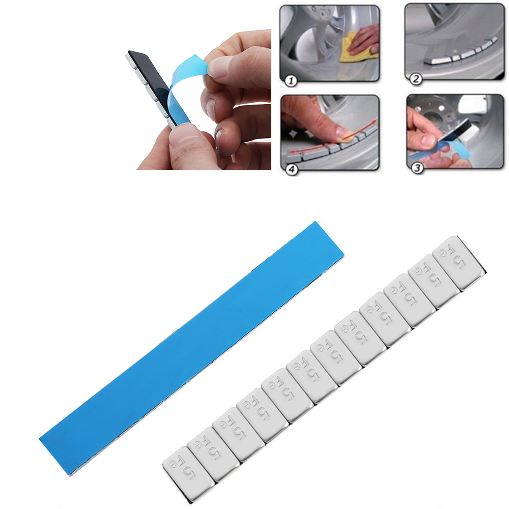 10X 5.9/'/' 60g Adhesive Iron Wheel Tyre Tire Balance Weights For