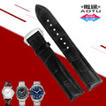 AUTO Genuine Leather 20mm Deployment Clasp Buckle Watch Band Strap for Omega Planet-Ocean Seamaster Speedmaster Watch + TOOLS