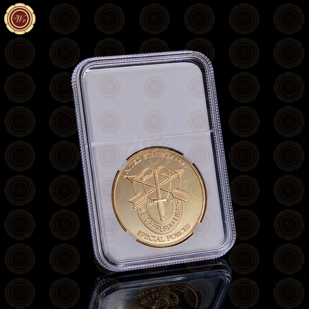 Hot Sale 24k 999.9 Gold Coin Gold Plated Golden Coin Collectible New Year Gifts Metal Coin with Security Code Box for Home Decor