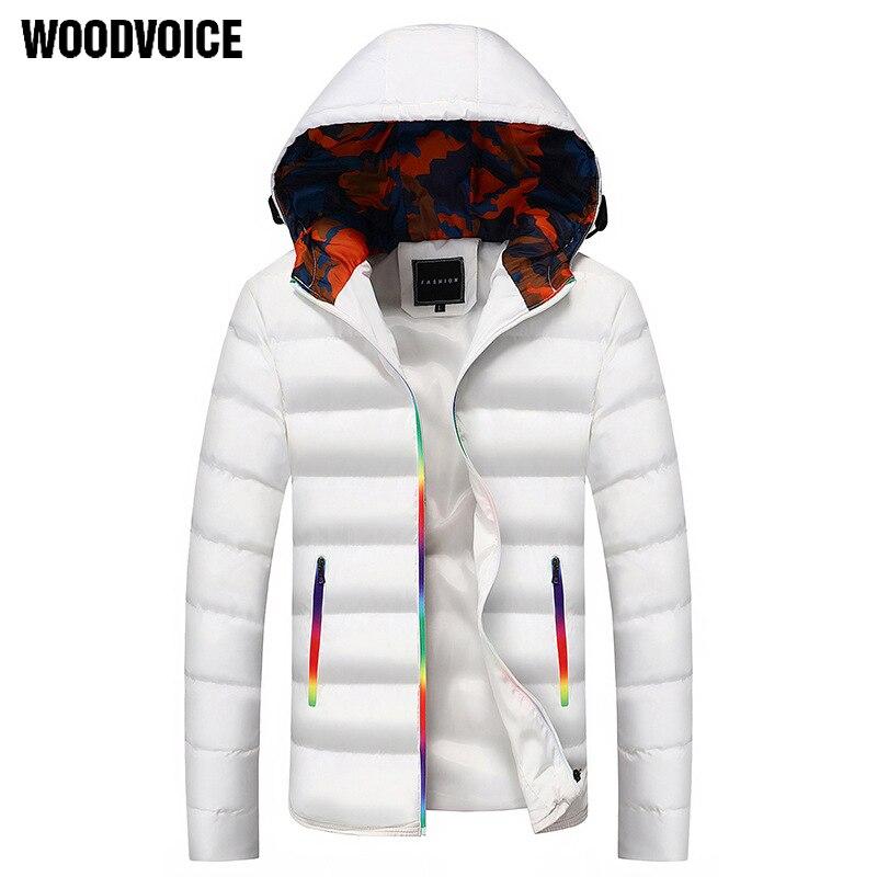 2018 hot men s long warm jacket men s fashion hooded winter garment jacket M 6XL