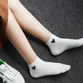 Winter Women Socks Boat Short Sock 1 Pairs Love Heart Dot For Female Sweet Ship Thin Ankle Invisible Woman Fashion Socks W038