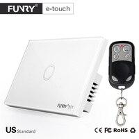 2017 Funryn New US Standard 1 Gang RF433 Wireless Touch Remote Control Wall Light Switch Smart