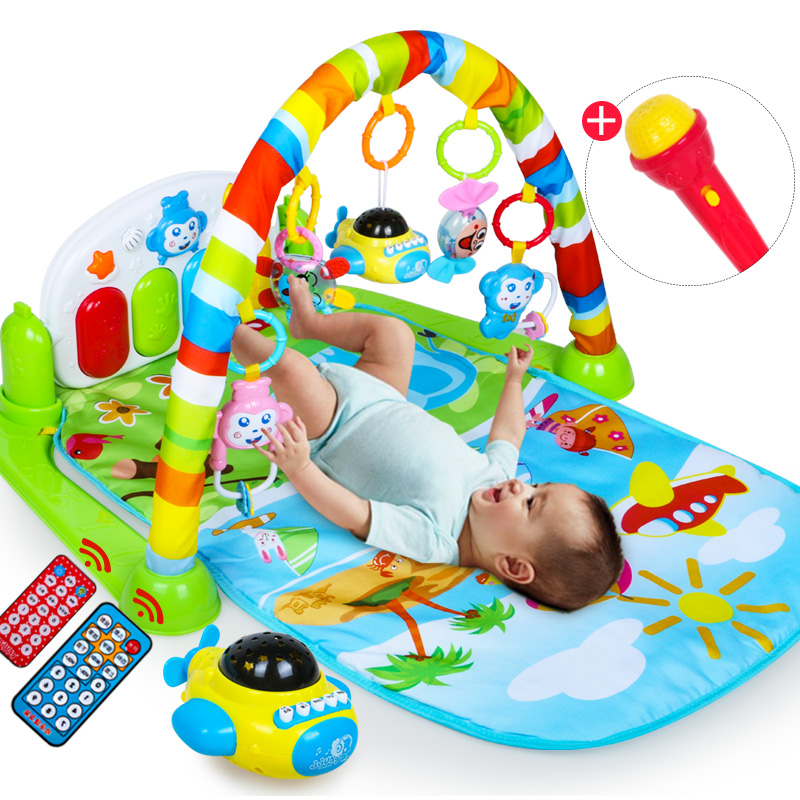 Baby Fitness Frame Piano Pedal Newborn Music Game Blanket