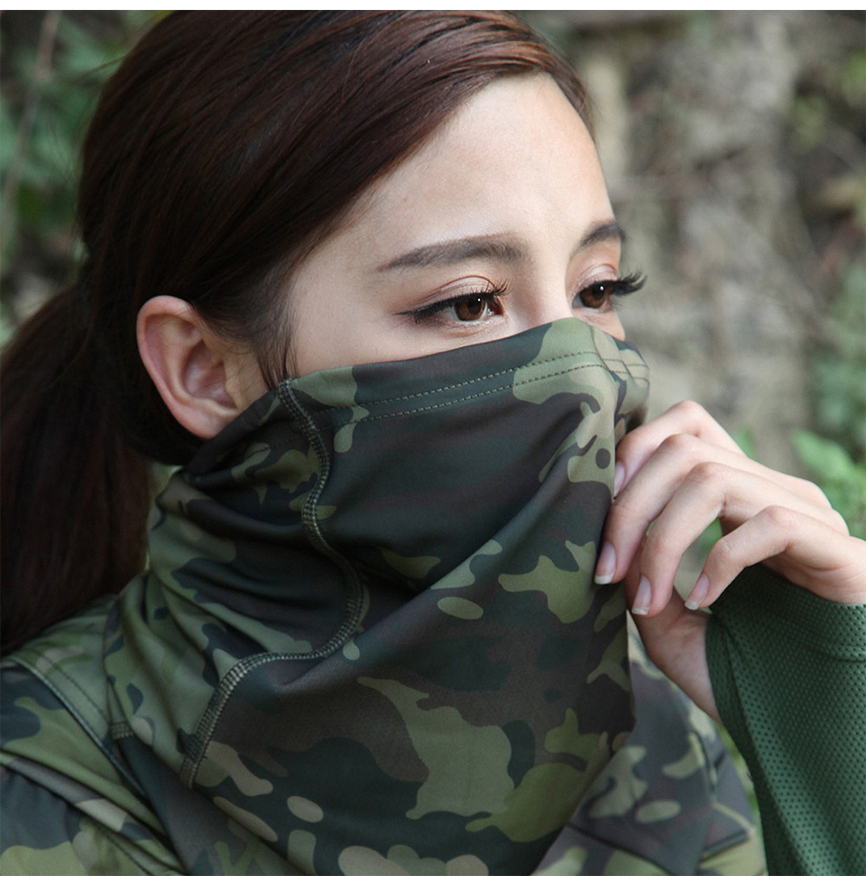 Multicam Camouflage Tactical Neck Gaiter Tube Face Shield Sun Military Army Cycling Hunting Hiking Camping Scarf Bandana