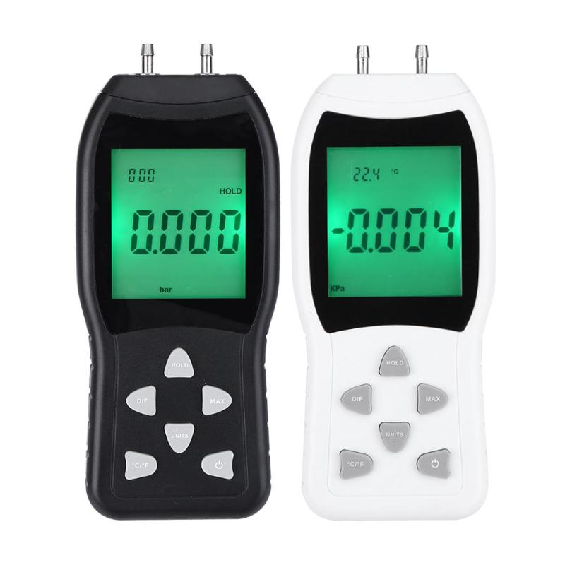 High Precision Digital Manometer Air Pressure Gauge Meter Barometers 50KPa Differential Pressure Tester Detector